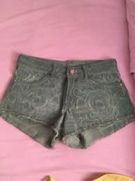 Short Jeans Verde Polo Wear
