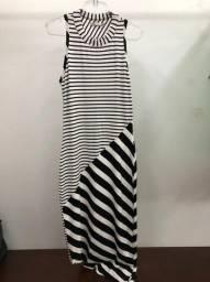 vestido listrado colcci