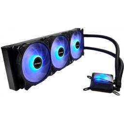 Water Cooler Algor Triple Fan 360MM Intel/Amd Led Azul