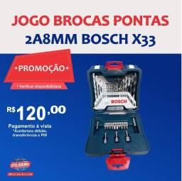 Título do anúncio: Jogo Brocas Pontas 33 Pecas 2a8mm Bosch X33 ? Entrega grátis