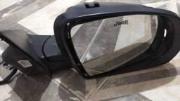 Retrovisor Compass lado direito do mais completo com sensor de ponto cego avaria mínima