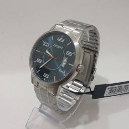 Relógio Orient Masculino Mbss1381 D2sx Prata Azul Aço Inox