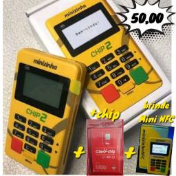 Título do anúncio: Máquina de Cartão Minizinha Chip e Wifi com internet grátis