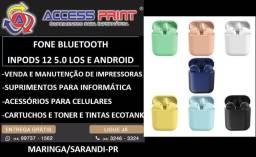 Título do anúncio: fone bluetooth inpods 12 5.0 Ios e Android