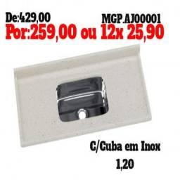 Semana do Consumidor Menor Preço-Pedra de 1,20 Com Cuba d Inox - Embalado