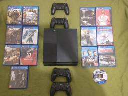Console PS4 ..14 jogos 4.manetes
