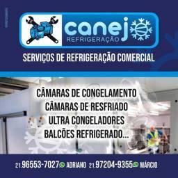 Instalação e manutenção de câmara frigorífica