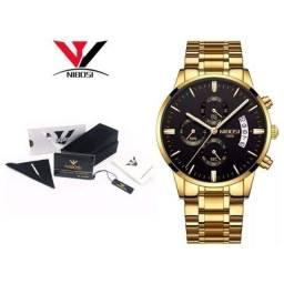Título do anúncio: Relógio Nibosi 2309 masculino de luxo original