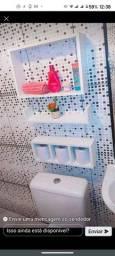 Kit de 3 nichos para banheiro