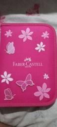 Estojo Faber-Castell Castell com 18 itens- Novo