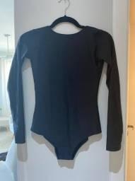 Body Scala - manga comprida e decote nas costas