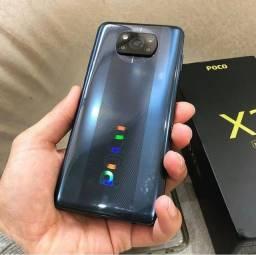 Celular Poco X3 NFC 64GB/128GB Cinza e azul R$ 1.549,00