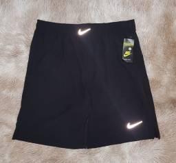 Shorts elastano Nike preto e azul do M ao GG