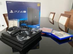 Título do anúncio: PS4 PRO 2TB + 4 Jogos (CUH-7200C Versão Japão)