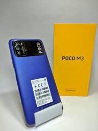 SMARTPHONE POCO M3 4 DE RAM E 128 DE MEMORIA BATERIA DE 6.000 FAÇO ENTREGA EM CAMPINAS