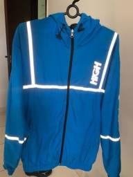 Corta Vento High Company Blue Jacket Reflective