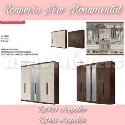 QUARDA ROUPA NEW MONUMENTAL QUARDA ROUPA NEW MONUMENTAL COM ESPELHO