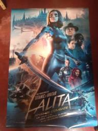 Cartaz De Cinema Original Filme Alita