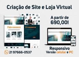 Criação de Site e Loja Virtual (Site E-Commerce)