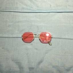 Óculos de Sol Retrô Rosé