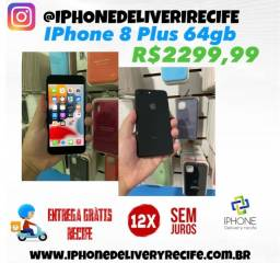 Título do anúncio: IPhone 8 Plus 64gb Impecável (12 x Sem Juros) Entrega Grátis
