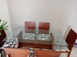 Mesa de jantar 6 cadeiras 150x80x10mm