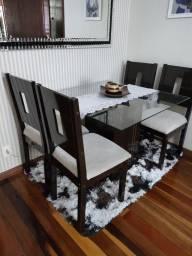 Título do anúncio: Mesa para sala com cadeiras(aceito cartão)