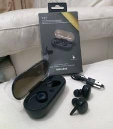 Fone Y30 De Ouvido Bluetooth Estéreo  Tws Sem Fio  / Headset 5.0 /