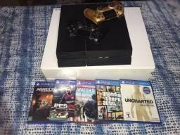 Título do anúncio: PS4 + 5 jogos