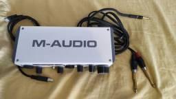 M-Track 2 M-Audio - Interface/Placa de Áudio estúdio