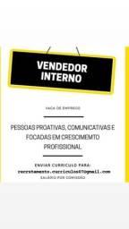 Título do anúncio: Vagas para vendedor interno