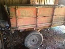 Carreta de madeira 4 Rodas
