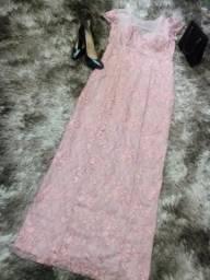 Vestido Festa Rosé