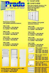Portas e janelas de alumínio branco / tudo a pronta entrega