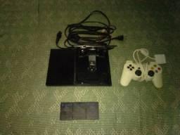 PS2 USADO 3MCard 1 controle funcionando