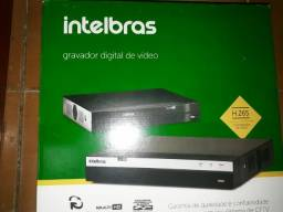 "KIT DVR ''NOVO!"" Intelbras 8ch Mhdx 3108 G3 Multi Hd Full Hd+3 câmeras+100m cabo+16Bnc"