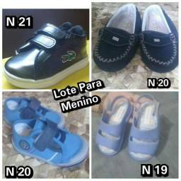 Lote Sapatos para Bebê N 19,20, 21