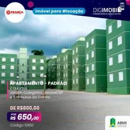 Apartamento para alugar com 2 dormitórios em Jardim coleginho, Jacarei cod:L5960