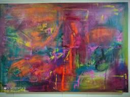 Painel em arte abstrata feito por mim.