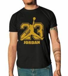 Camisa Camisetas Jordan 23 Em Dourado, Manga Curta