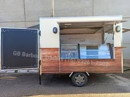 Fábrica de Trailer lanche pastel espetinho salgado batata crepe açaí sorvete chopp
