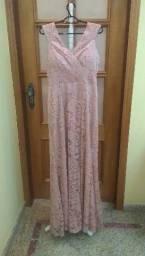 Vestido Rosa Antigo G