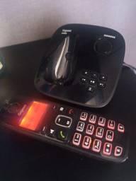 Telefone sem fio Siemens, com secretária