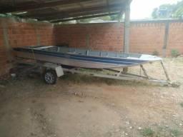 Barco com motor 15hp super (venda ou troca)