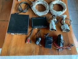 Kit monitoramento completo HDL com 4 canais e 2 câmeras