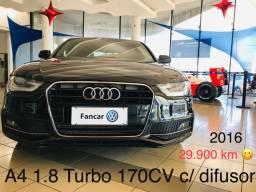 A4 1.8 turbo 2016 com Baixo km