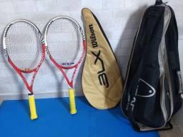 Vendo raquetes Wilson mais bolsa.
