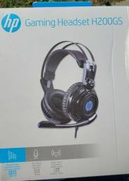Título do anúncio: Fone Headset c/ Microfone Gamer USB H200 Led Chumbo HP