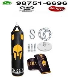 Saco De Pancada+ Luva+ Suporte! Kit Completo - Troia