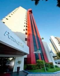 Flat com 1 dormitório para alugar, 58 m² por R 1.800,00/mês - Petrópolis - Natal/RN